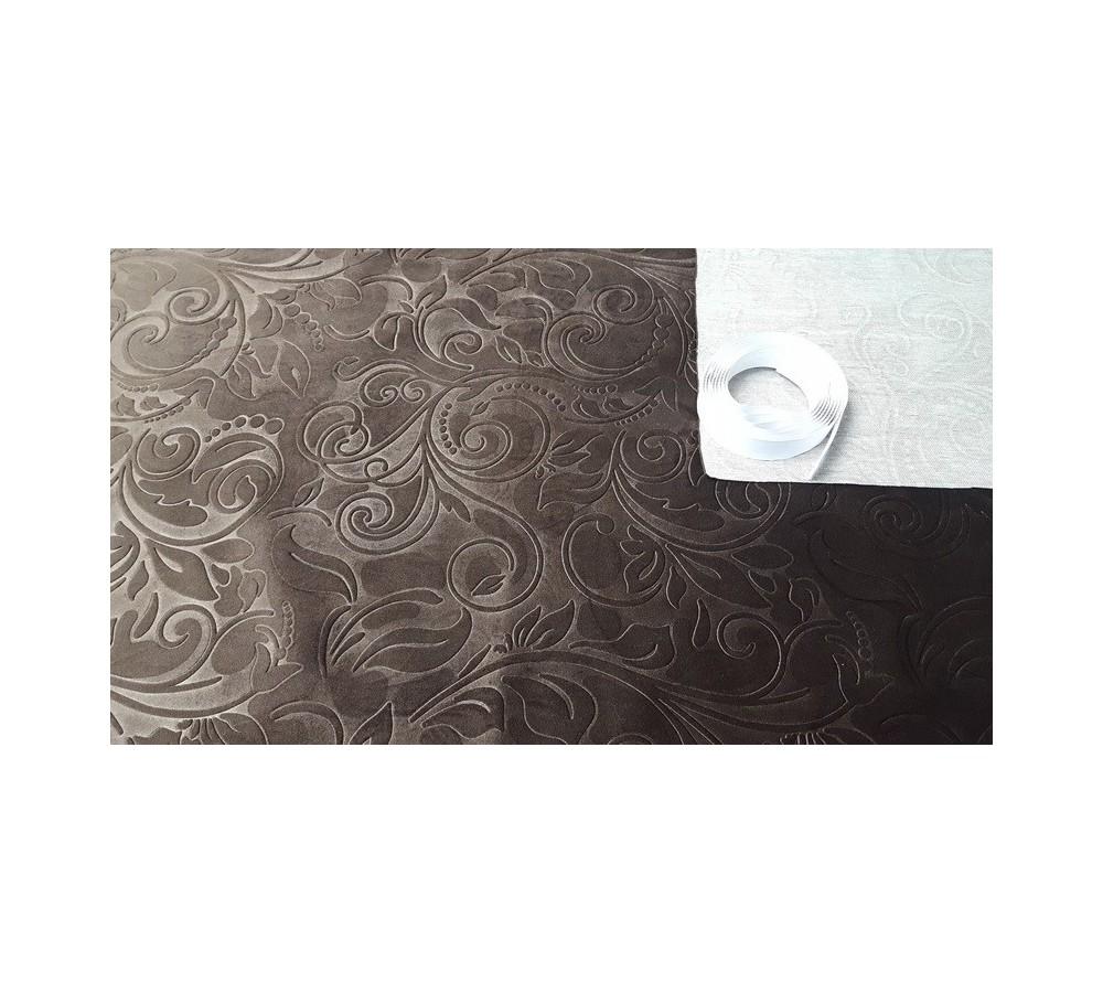 Plush brown wallcover