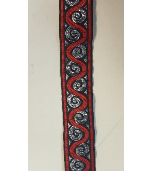 Decoration line black-red