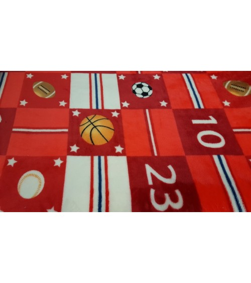 Red ball figured bedcover