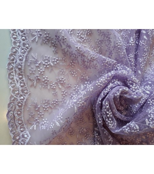 Light purple strech lace