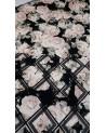 Fekete alapon rózsás  búvár anyag