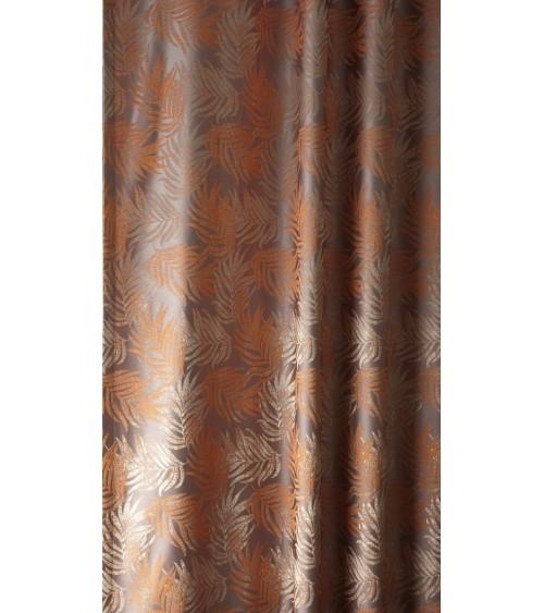 SZ- 6.  280 cm széles, Narancs leveles 22 dekor függöny
