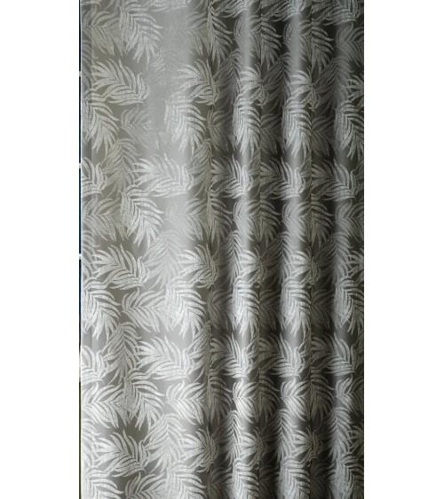SZ- 6.   280 cm széles, Ezüst leveles 42 dekor függöny