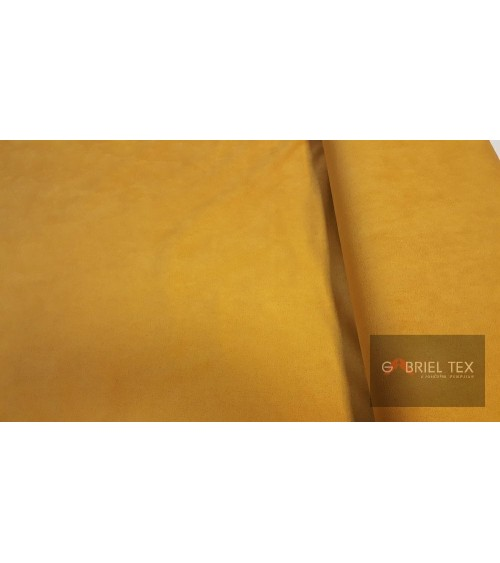 Mustard yellow deer skin textile