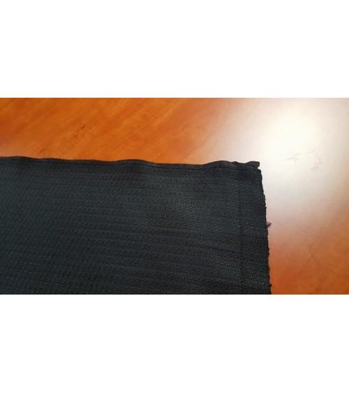 Black figured chenille