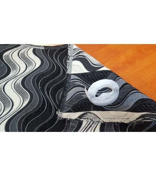 Black striped wallcover