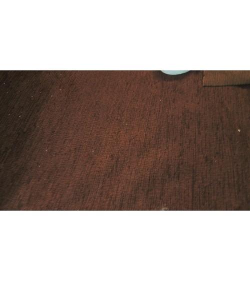 Dark brown chenille