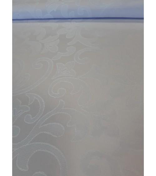 Fehér, ferdepánntal szegett teflonos terítő 240x140 cm