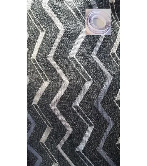 Black wavy wallcover