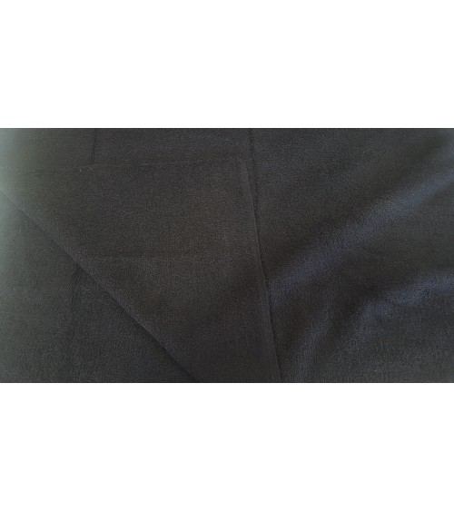 Black two sided terry blanket