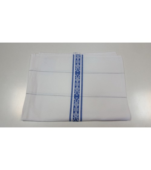 Blue striped kitchen cloth
