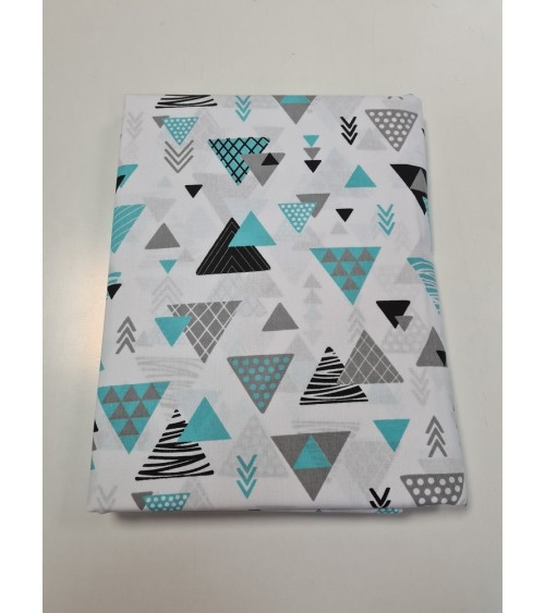 Turquoise star figured bed sheet
