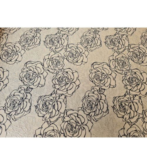 Powder colored rose figured textile