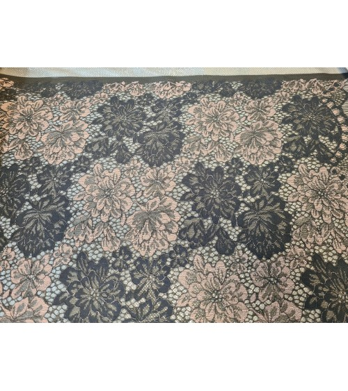 Powder-grey figured textile