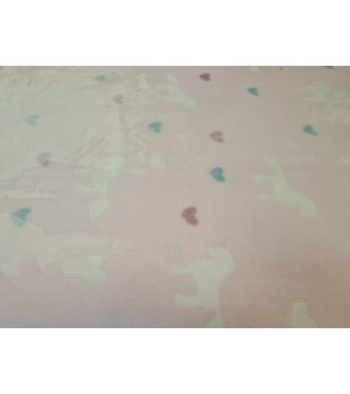 Pink unicorn figured soft wallcover