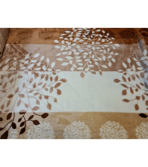 Brown leaf figured soft wallcover