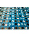 Blue paw figured soft wallcover