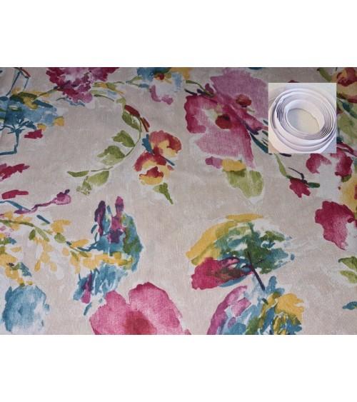 Colorfull flower figured wallcover