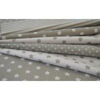 Grey figured linen