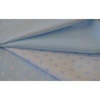 Light blue figured linen