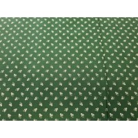 Green figured linen